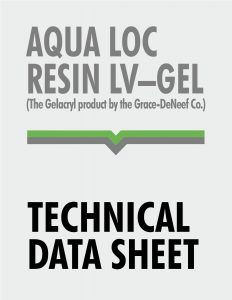 Technical Data Sheet - Aqualoc Resin LV-Gel